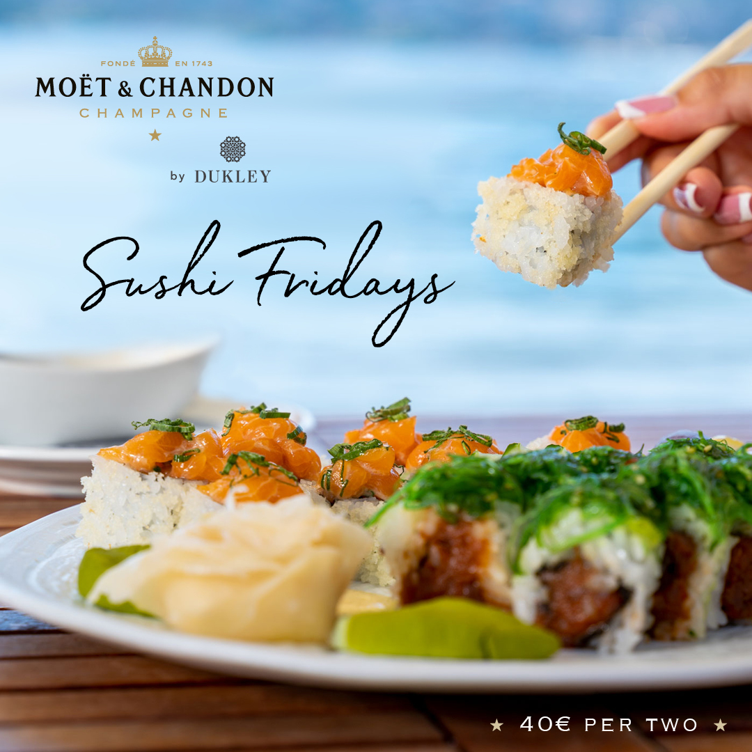 Sushi Fridays at Moët & Chandon Beach